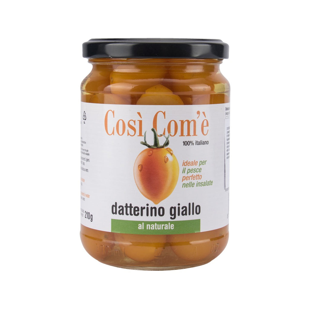 Cosi Come Whole Unpeeled Yellow Datterino Tomatoes In Water(350g)
