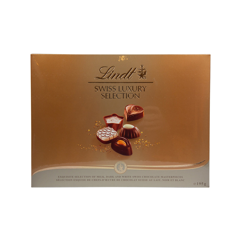 LINDT Swiss Luxury Selection - Milk, Dark & White Chocolate  (195g)