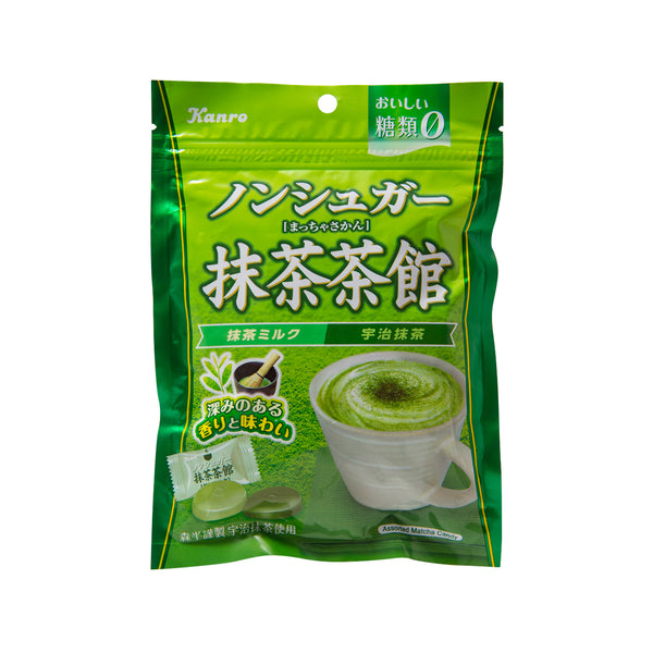 KANRO Non-Sugar Green Tea Candy - Matcha Milk & Uji Matcha  (72g)