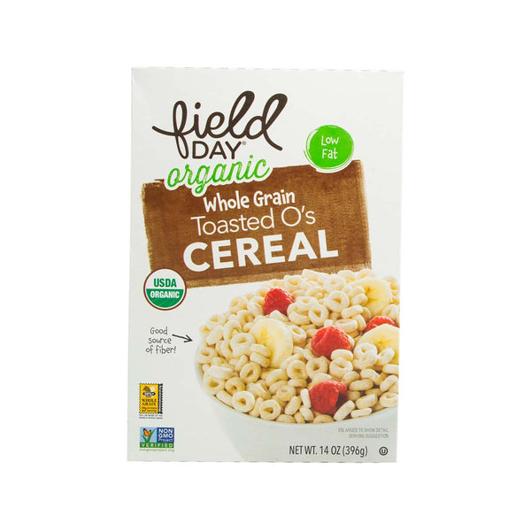 FIELD DAY Whole Grain Toasted O's Organic Cereal  (396g)