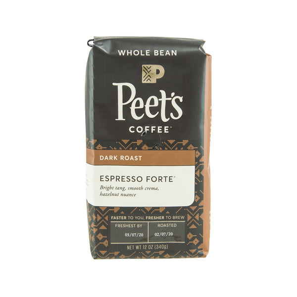 PEET'S Espresso Forte Whole Coffee Bean - Dark Roast  (340g)