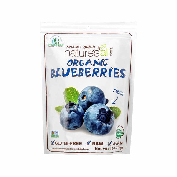 NATURE'S ALL Organic Freeze-Dried Blueberries  (34g)