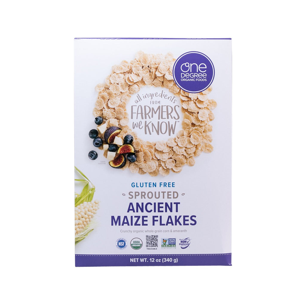 ONE DEGREE Sprouted Ancient Maize Flakes  (340g)