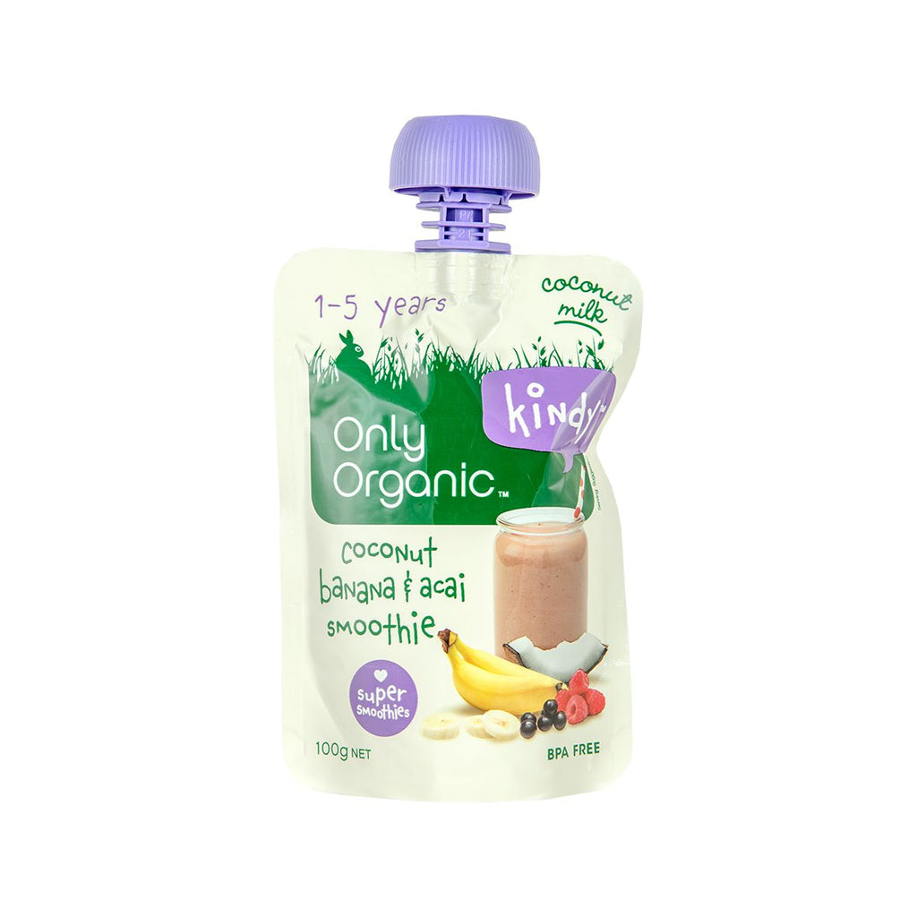 Only Organic Coconut, Banana & Acai Smoothie(100g)
