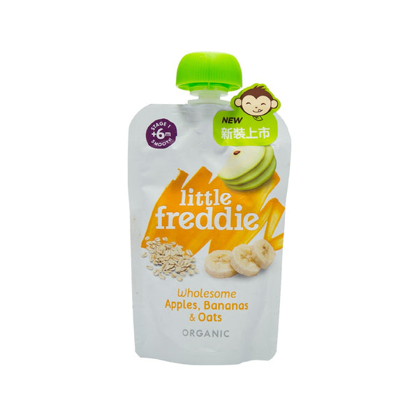 LITTLE FREDDIE Organic Apple, Banana & Oatmeal  (100g)