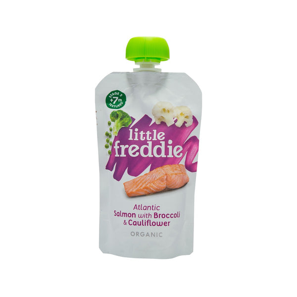 LITTLE FREDDIE Organic Atlantic Salmon with Broccoli & Cauliflower  (120g)