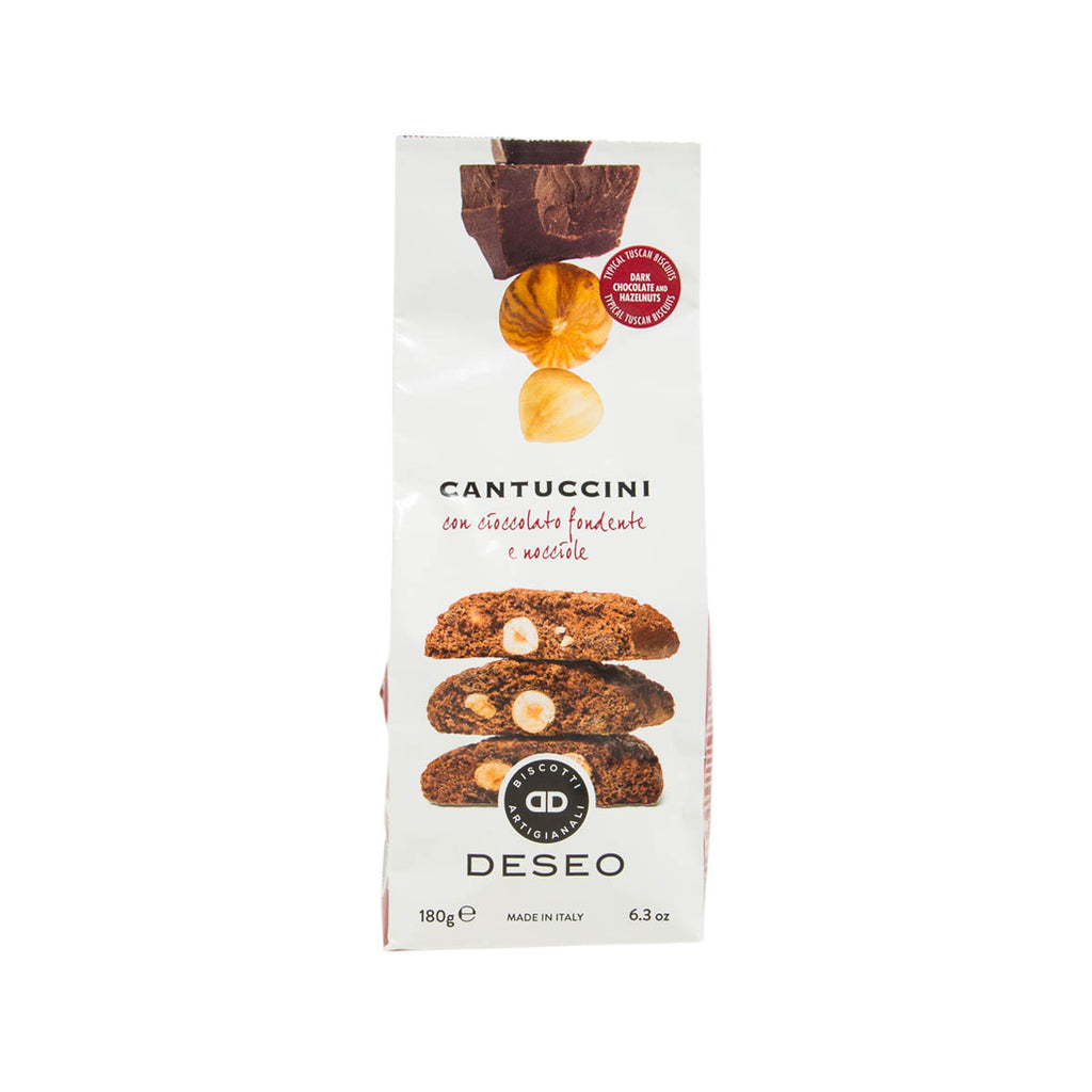DESEO Cantuccini with Extra Dark Chocolate and Hazelnuts  (180g)