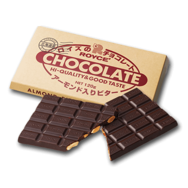 ROYCE' Chocolate Bar - Almond Bitter  (120g)