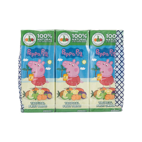 APPY DRINKS Peppa Pig Tropical Fruit Drink  (3 x 200mL)