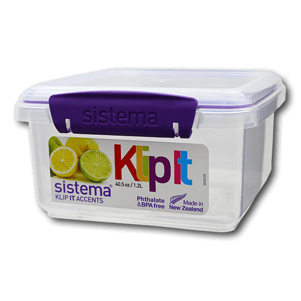 Sistema KLIP-IT Accents Rectangular Food Container 1.2L(1pc)