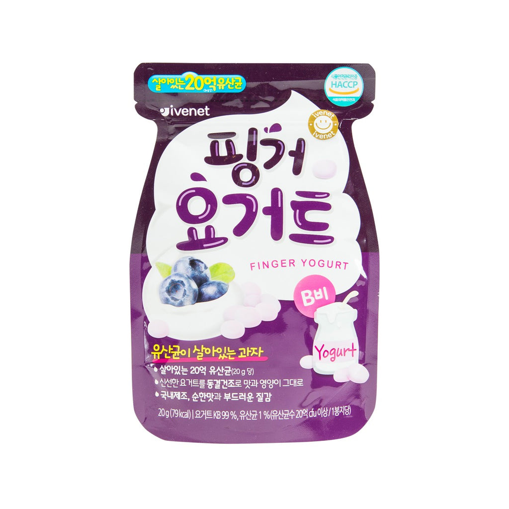 IVENET Bebe Finger Yogurt Snack (Blueberry)  (20g)