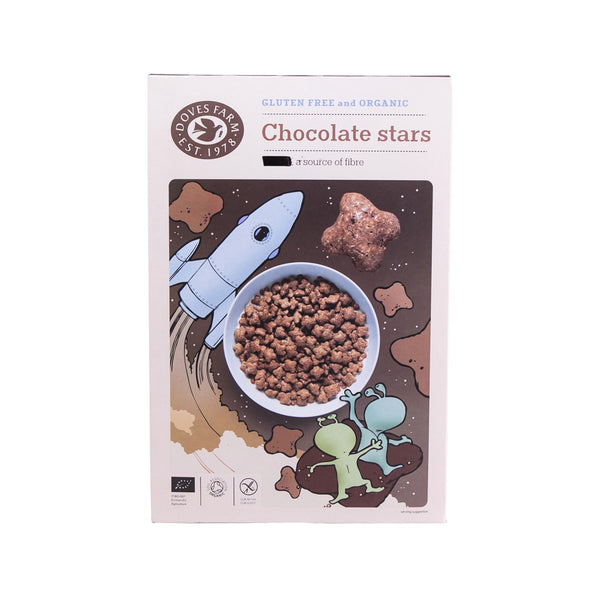 DOVES FARM Gluten Free and Organic Chocolate Star Shaped Cereal  (300g)