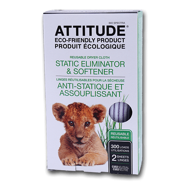 ATTITUDE Reusable Dryer Cloth - Static Eliminator & Softener  (2pcs)