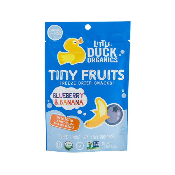 LITTLE DUCK ORGANICS Tiny Fruits Freeze Dried Snacks - Blueberry & Banana  (21g)
