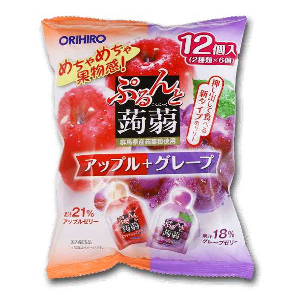 ORIHIRO Konnyaku Jelly Apple And Grape  (240g)