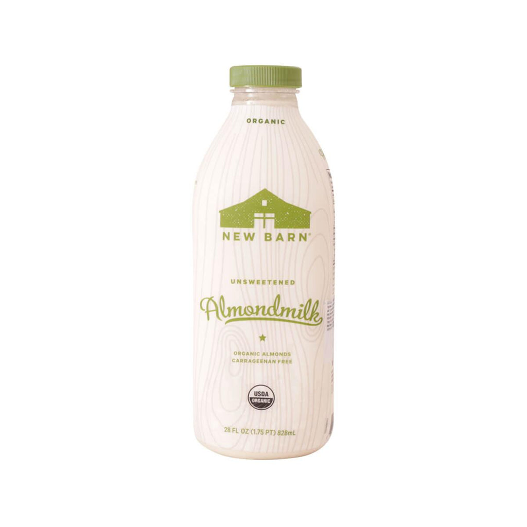 New Barn Organic Almond Milk - Unsweetened (828mL)