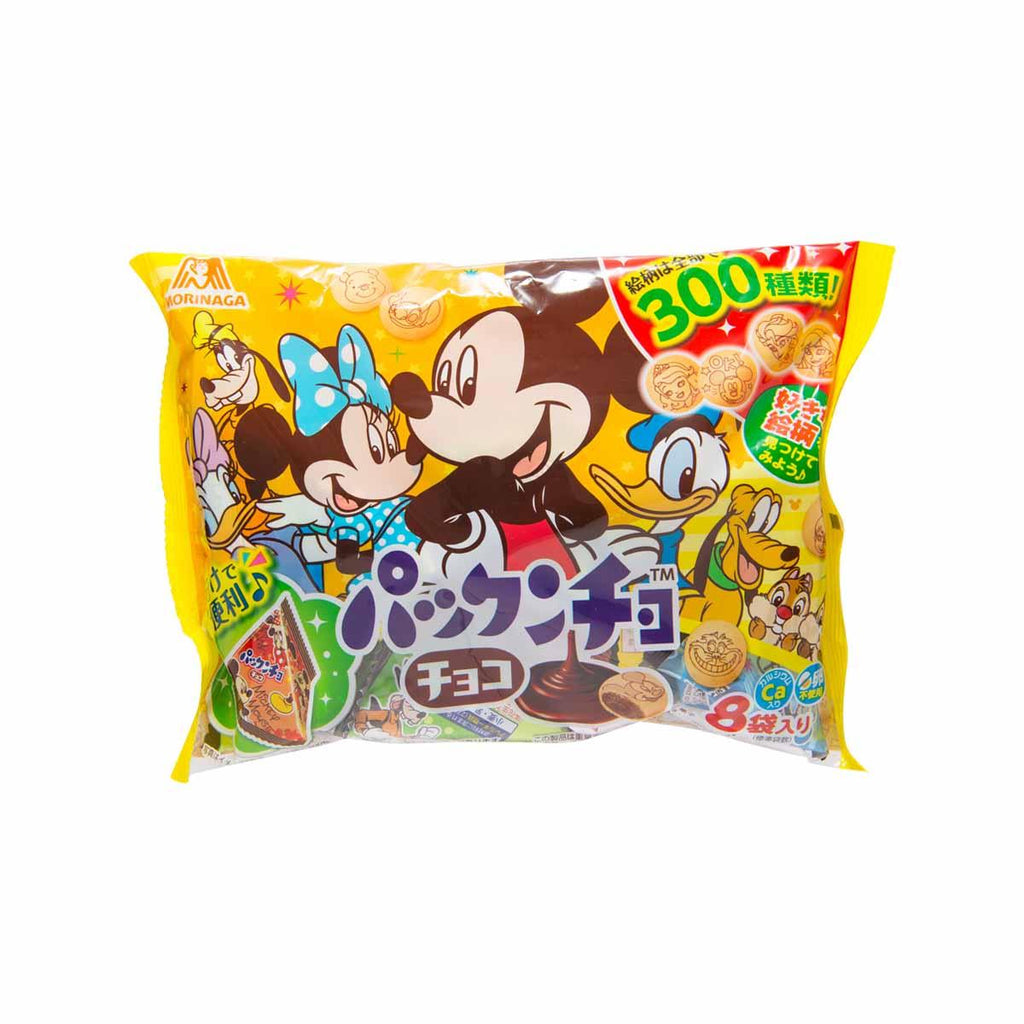 MORINAGA Disney Chocolate Flavor Biscuit Family Pack  (90g)