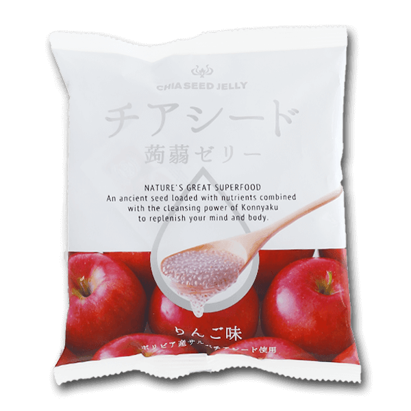 WAKASHO Chia Seed Konnyaku Jelly - Apple Flavor  (10pcs)
