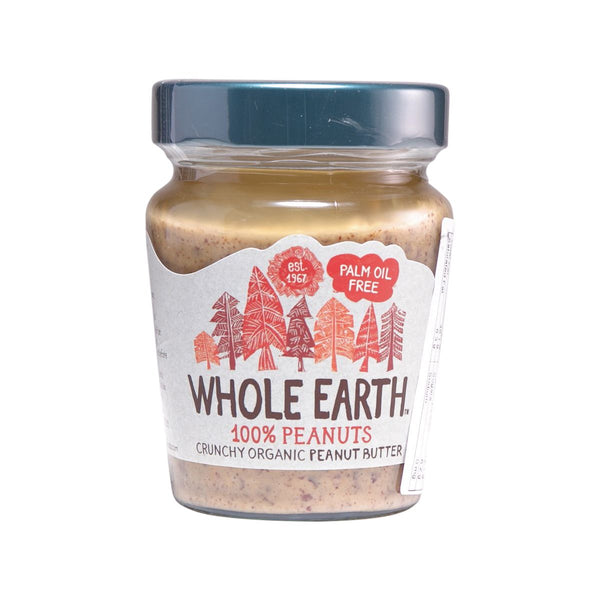 WHOLE EARTH Organic Gluten Free Crunch Peanut Butter With No Palm Oil And Added Sugar  (227g)