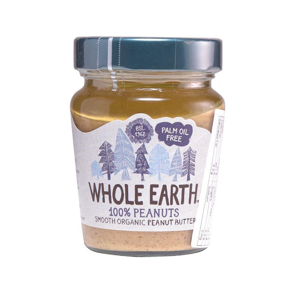 WHOLE EARTH Organic Gluten Free Smooth Peanut Butter With No Palm Oil And Added Sugar  (227g)
