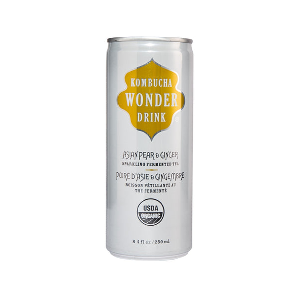 Kombucha Wonder Drink Organic Asian Pear & Ginger Sparkling Fermented Tea(250mL)