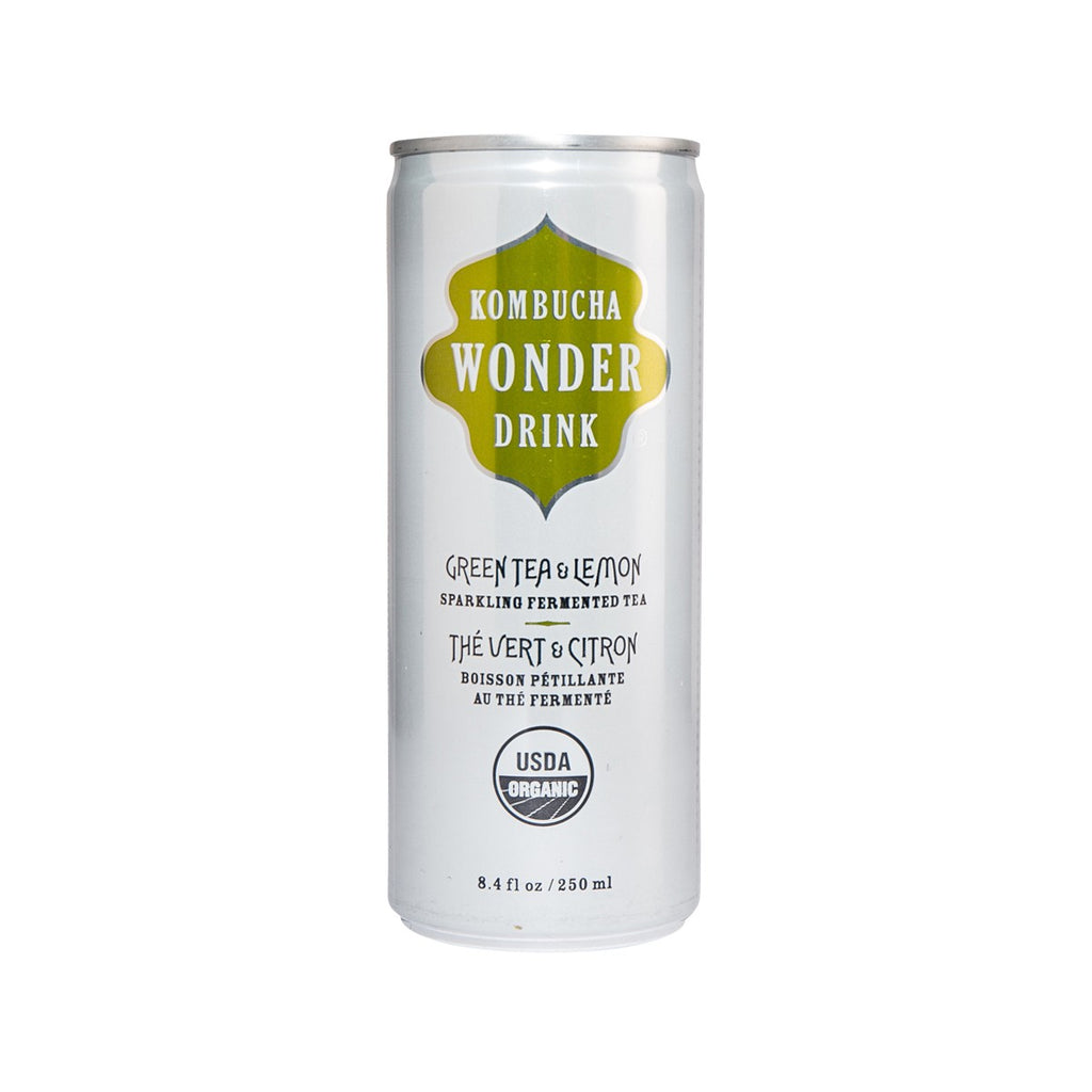 Kombucha Wonder Drink Organic Green Tea & Lemon Sparkling Fermented Tea(250mL)