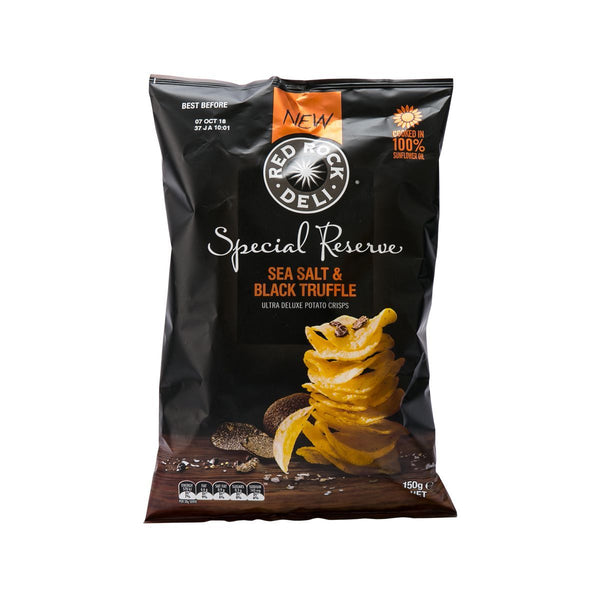 Red Rock Deli Sea Salt & Black Truffle Flavoured Potato Chips(150g)
