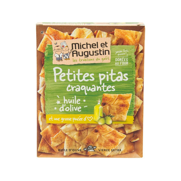 MICHEL & AUGUSTIN Crisp Pitas with Olive Oil and Salt  (90g)