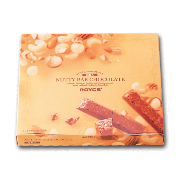 ROYCE' Nutty Bar Chocolate  (6pcs)