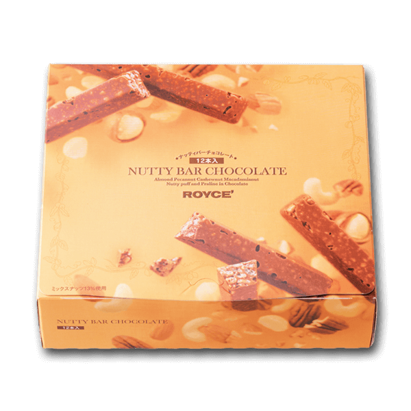 ROYCE' Nutty Bar Chocolate  (12pcs)
