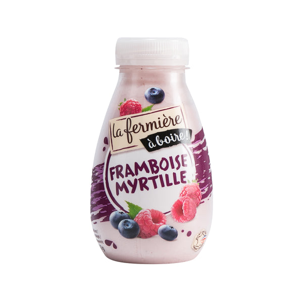 LA FERMIERE Sweet Yogurt Drink - Raspberry & Blueberry  (260g)