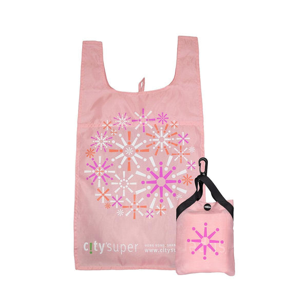 CITYSUPER Firework Pattern Environmental Pocketable Bag-Pink
