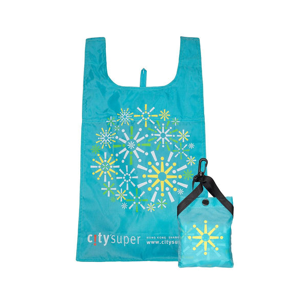 CITYSUPER Firework Pattern Environmental Pocketable Bag-Light Blue