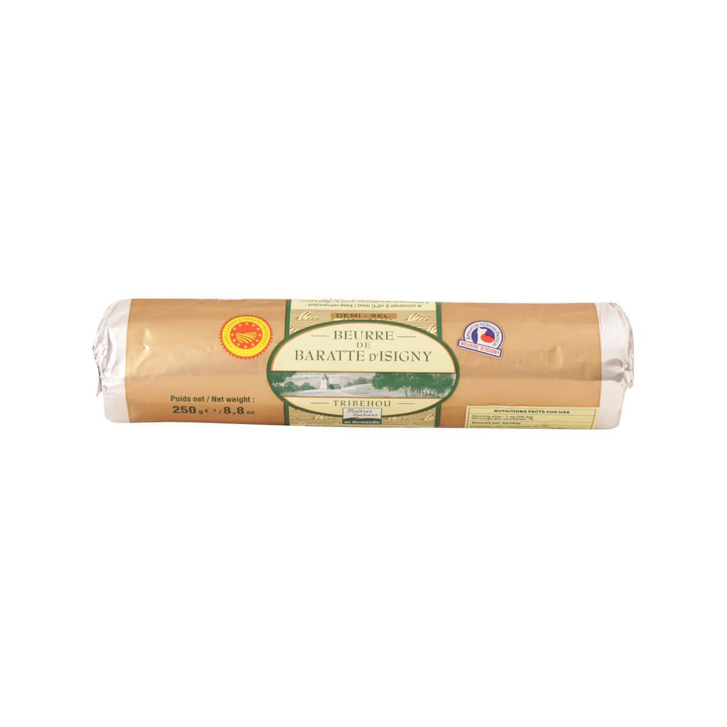 MAITRES LAITIERS Churn Butter Roll of Isigny - Slightly Salted  (250g)