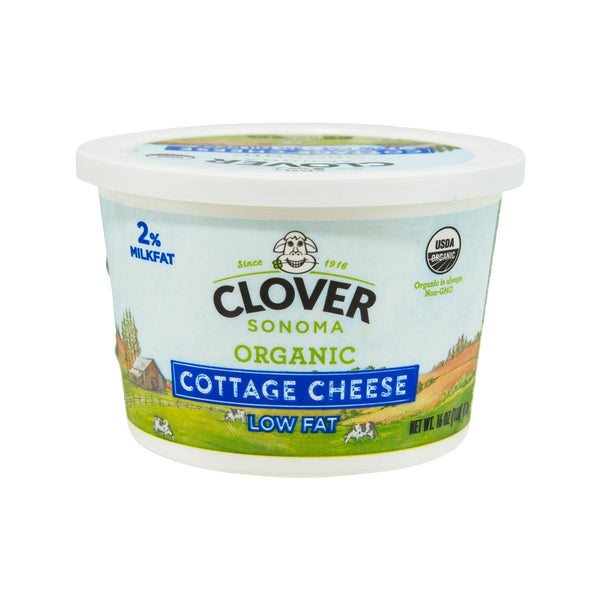 CLOVER Organic Cottage Cheese - Low Fat  (453g)