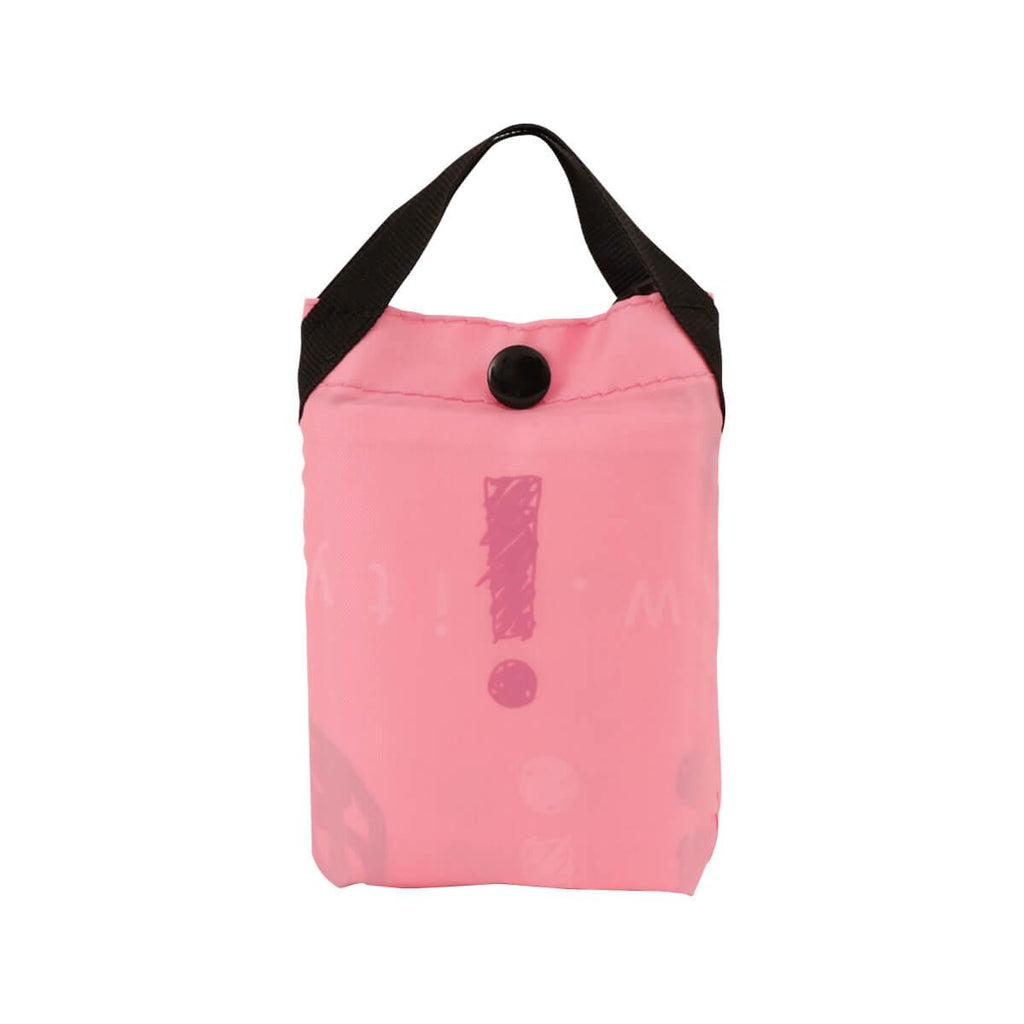 city'super Sketch Pattern Environmental Pocketable Bag -Sharp Pink