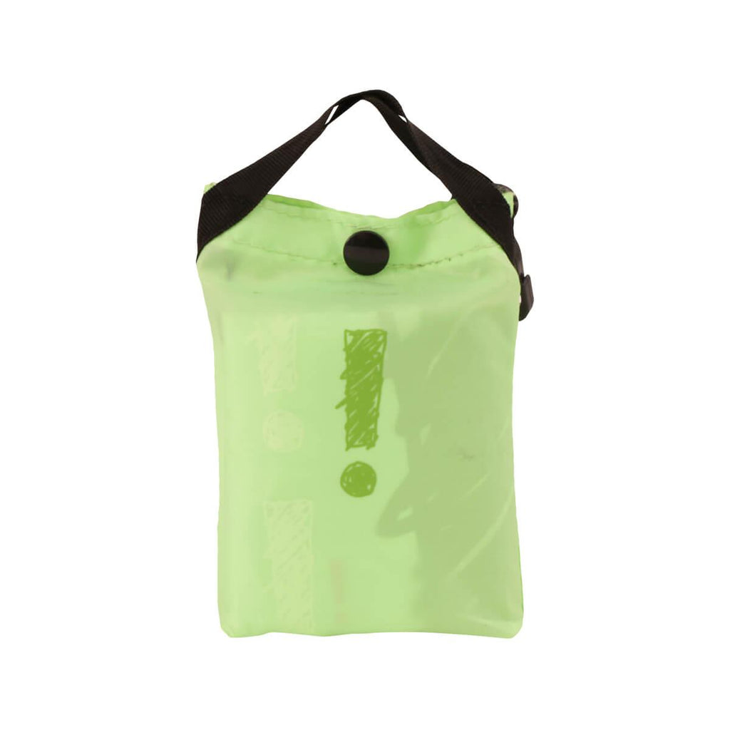 city'super Sketch Pattern Environmental Pocketable Bag -Apple Green
