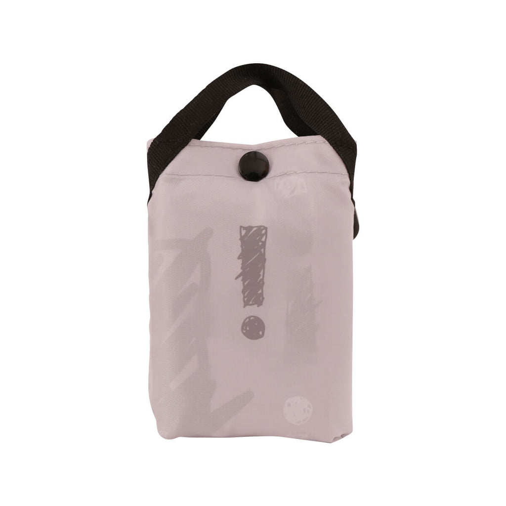CITYSUPER Sketch Pattern Environmental Pocketable Bag -Pale Grey