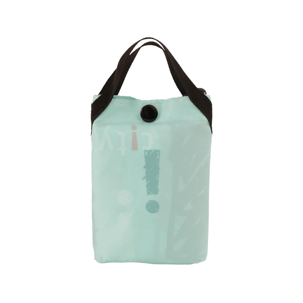 CITYSUPER Sketch Pattern Environmental Pocketable Bag -Aqua