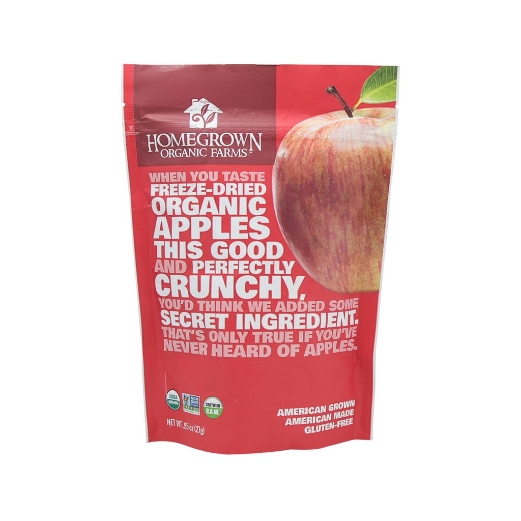 Homegrown Freeze-Dried Organic Apples(27g)