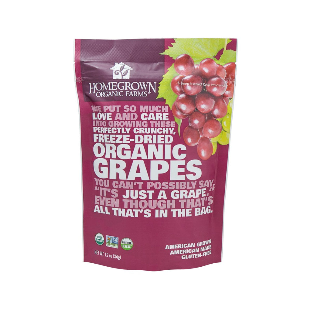 Homegrown Freeze-Dried Organic Grapes(34g)