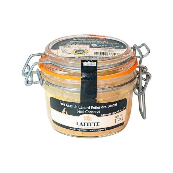 LAFITTE Whole Duck Foie Gras (Semi Preserved)  (130g)