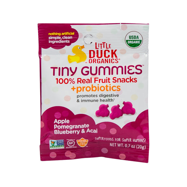 LITTLE DUCK ORGANICS Tiny Gummies - Pomegranate, Blueberry & Acai  (20g)
