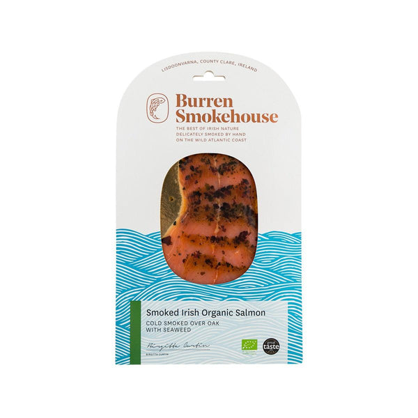 BURREN SMOKEHOUSE Cold Smoked Irish Organic Salmon with Seaweed  (100g)