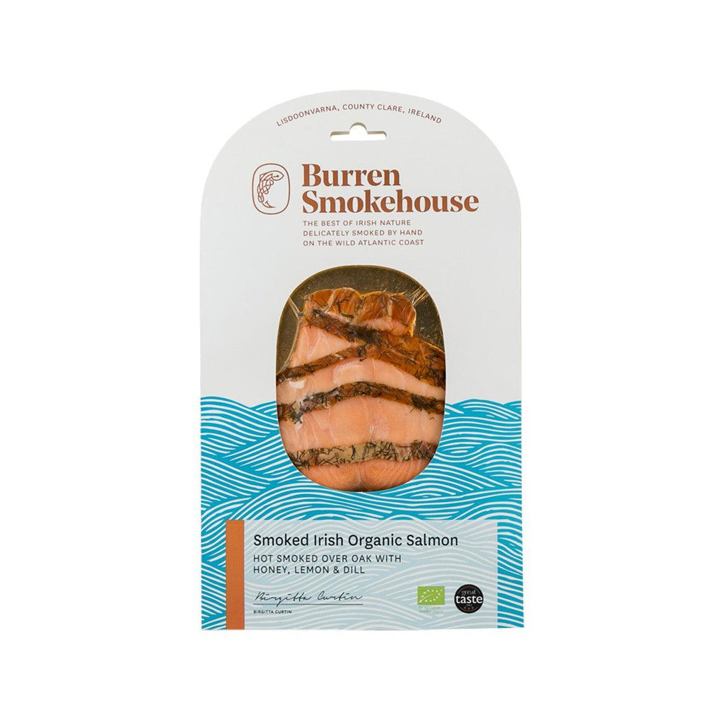 Burren Smokehouse Hot Smoked Irish Organic Salmon With Honey Lemon Dill(100g)