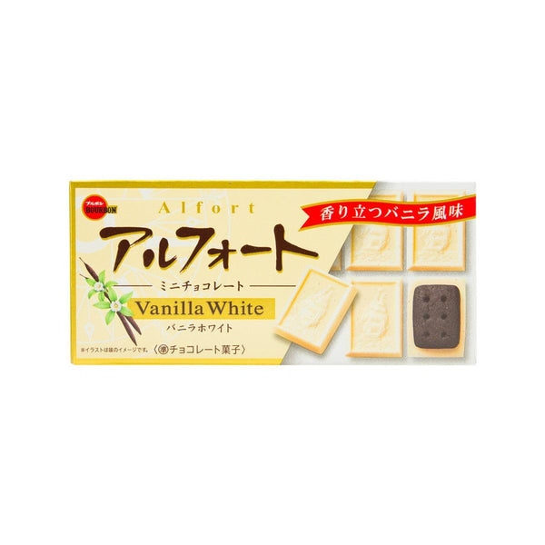 BOURBON Alfort Mini Chocolate - Vanilla White  (12pcs)