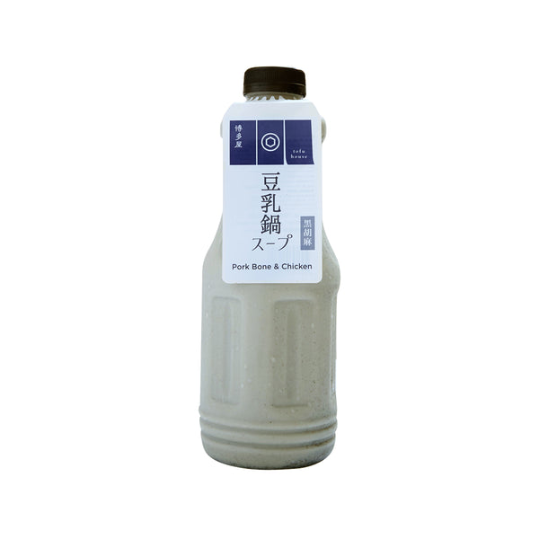 HAKATAYA Black Sesame Soymilk with Pork Bone & Chicken Hot Pot Soup Base  (1L)