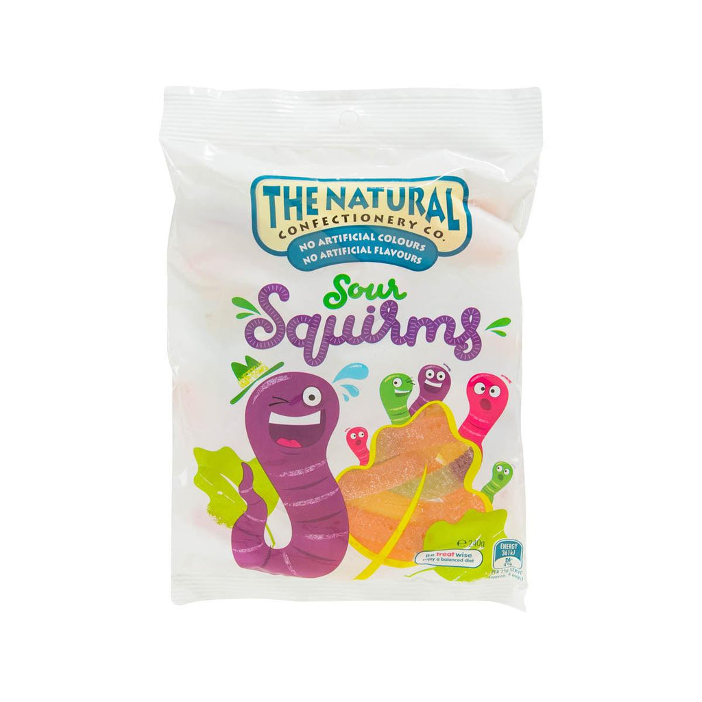 NATURAL CONFECTIONERY Jelly Confectionery - Sours Squirms  (240g)