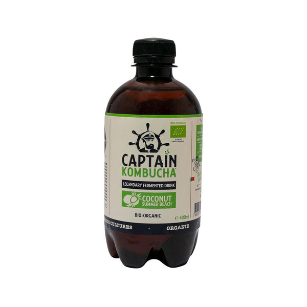 CAPTAIN KOMBUCHA Organic Kombucha Fermented Tea Drink - Coconut  (400mL)