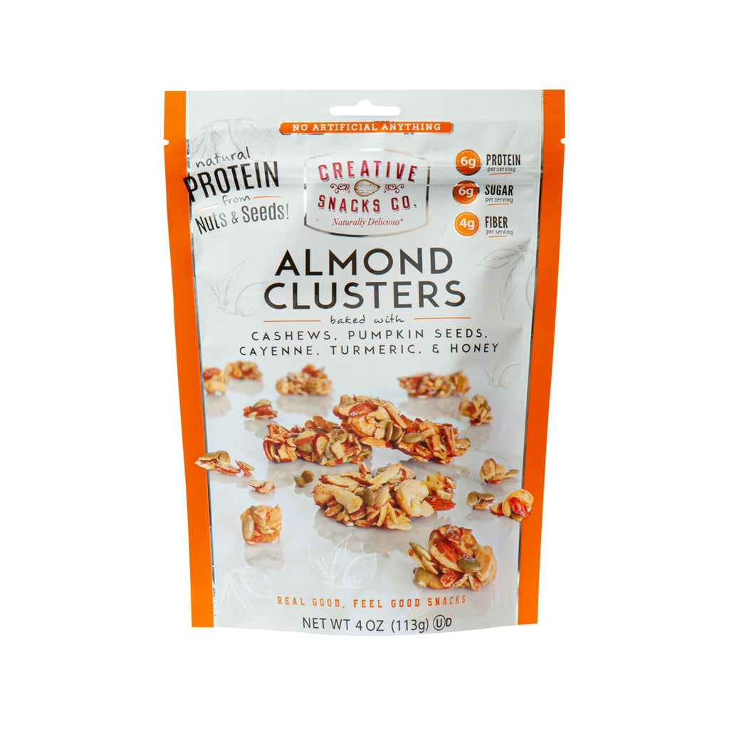 CREATIVE SNACKS CO. Almond Clusters Baked with Cashews, Pumpkin Seeds, Cayenne, Turmeric & Honey  (113g)